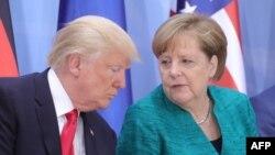 صدراعظم آلمان و رئیسجمهور آمریکا در میزگردی در حاشیه اجلاس گروه ۲۰ در هامبورگ