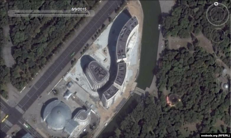 Belarus - photo of Minsk from satellite, Google Maps