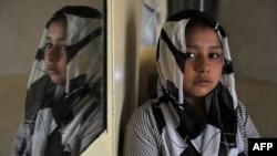 Тарана Акбари, девојчето кое е на сликата на Масуд Хосаини по нападот во Кабул во декември лани. 17.04.2012 Кабул