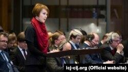 Заступниця міністра закордонних справ Олена Зеркаль представляє позицію України в Міжнародному суді, 2017 рік