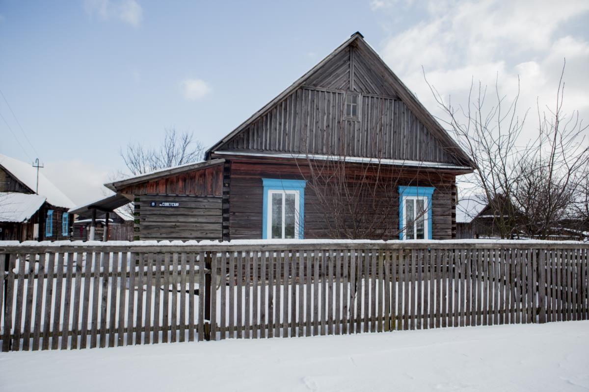 Дом Сергея Алиферовича, который за убийство односельчанина получил пять лет колонии
