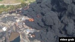 Пожежа на нафтобазі під Києвом