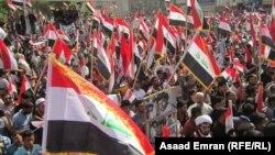 Yrakda Al-Sadr köpçülikleýin demonstrasiýalary geçirýär.