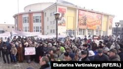 На акции протеста в Иркутске против пыток. 6 февраля 2016 года.