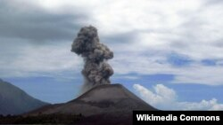Вулкан Анак Кракатау, извержение 2008 года