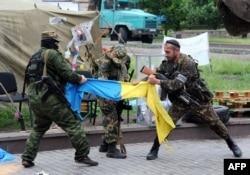 Боевики батальона «Восток». Донецк, май 2014 года