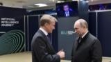 Герман Греф и Владимир Путин на конференции Сбербанка