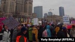 Маніфа – демонстрація, присвячена Міжнародному дню жінки, Варшава, 7 березня 2016 року
