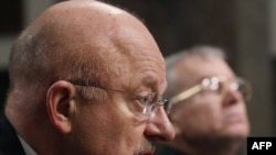 U.S. Director of National Intelligence James Clapper during a Senate Armed Services Committee hearing in Washington on March 10