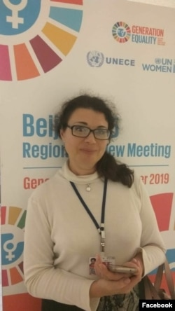 """Марина Авраменко на форуме """"Гендерное равенство в регионе Европейской экономической комиссии ООН"""" в Женеве"""