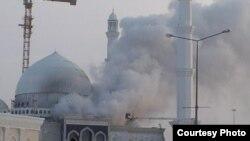 Пожар в мечети в Астане. 15 января 2012 года.