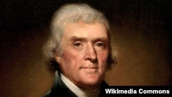 Un portret al președintelui Thomas Jefferson