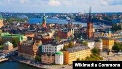 Гамла Стан, Стокгольмдун эски шаары, Швеция.