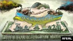 Борьба Петра Порошенко и Игоря Коломойского. Карикатура Алексея Кустовского (Украина)