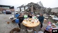 Pamje në provincën Siçuan në Kinë pas një tërmeti në vitin 2013