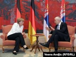 Nemačka kancelarka Angela Merkel i predsednik Srbije Boris Tadić na sastanku u Beogradu
