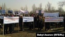 Kyrgyzstan. Rally support Keldibekov March 12, 2014