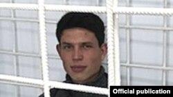 Даниил Исломов во время процесса в военном суде Хатлонского гарнизона. Октябрь 2017 года