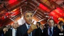 ԱՄՆ-ի նախագահ Բարաք Օբաման մասնակցում է Ֆրանսիայում ՄԱԿ-ի նախաձեռնությամբ գումարված կլիմայի հարցով գագաթնաժողովին, Փարիզ, 30 նոյեմբերի, 2015թ.