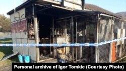 Policija je obavila uviđaj na mjestu zapaljene prodavnice u vlasništvu Igora Tomkića