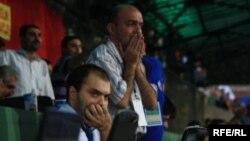 Jurnalistlər «Bakı»-Bazel» oyununu izlərkən