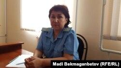 Представитель прокуратуры Айымгуль Жаманбалина. Акмол, 25 августа 2017 года.