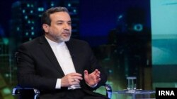 Iran's Deputy Foreign Minister Abbas Araqchi outlining his country's decision for a gradual withdrawal from the nuclear deal. May 8, 2019