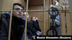 Ukraina deñiz askerleri Moskova mahkemesinde, arhiv süreti