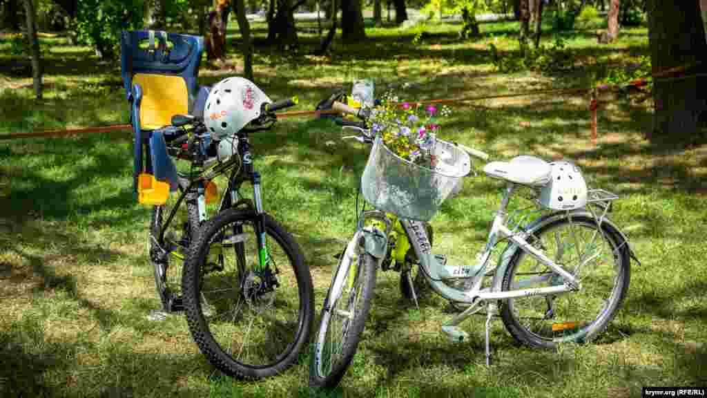 На мероприятие многие приезжали на велосипедах и с детьми