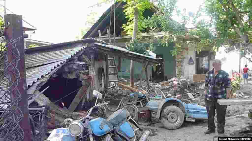 Наводнение в Базар-Курганском районе