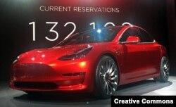 Tesla Model 3 электромобили
