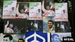 Predizborni posteri sa likom Mahmuda Ahmedinedžada povodom