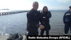 Милутин Секуловски, нуркач од Нуркачкиот клуб Амфора од Охрид.