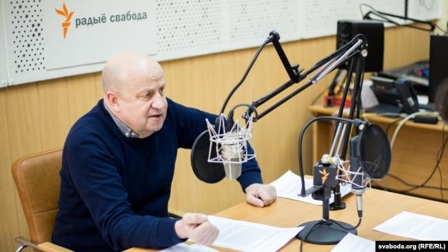 Вячаслаў Ракіцкі ў студыі Радыё Свабода