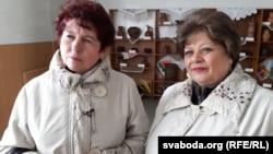 Ганна Смусянок (зьлева) і Ніна Вашчанка