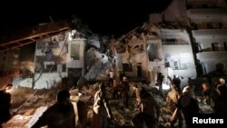 Аба соккусу урулган жер. Идлиб, Сирия, 31-май, 2016-жыл