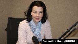 Lilia Calancea în studioul Europei Libere