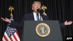 ԱՄՆ նախագահ Դոնալդ Թրամփը ելույթի ժամանակ, արխիվ