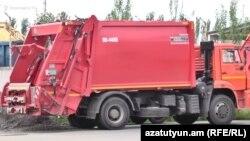 Աղբահավաք մեքենա Երևանում, արխիվ