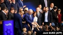Benjamin Netanyahu među svojim pristalicama, Tel Aviv