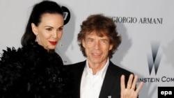 L'Wren Scott dhe Mick Jagger