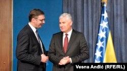 Bez iznenađenja: Dragan Čović i Aleksandar Vučić u Beogradu