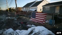 Пострадавший от урагана дом (штат Нью-Джерси)