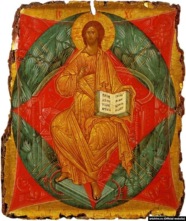 Ікона «Спас в силах» московського іконописця Андрія Рубльова початку 15-го століття