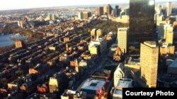 Бостонның биіктен көрінісі. 21 сәуір 2013 жыл. Қарлығаш Жақиянова түсірген фото.