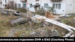 Открытые теплотрассы, замеченные ОНФ в поселке Приамурский