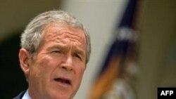 Эта пресс-конференция Джорджа Буша в Белом доме получилась особой