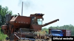 Сельскохозяйственные работы, Чуйская область, 18 июля 2012 года.