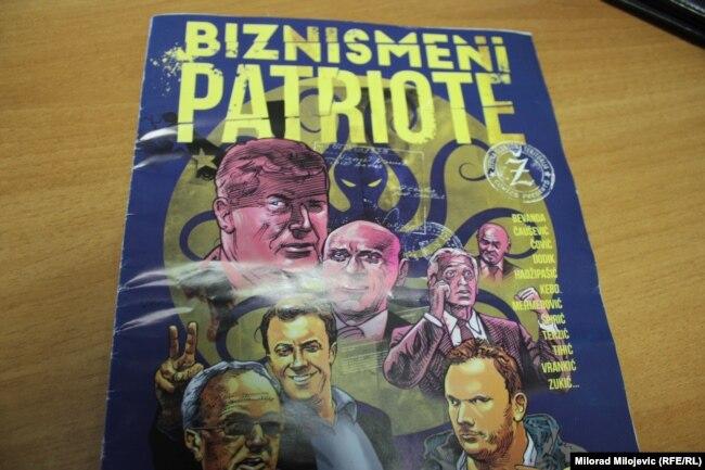 Naslovnica stripa Biznismeni patriote