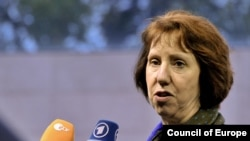 "EU foreign policy chief Catherine Ashton: ""We will continue to keep up the pressure."""